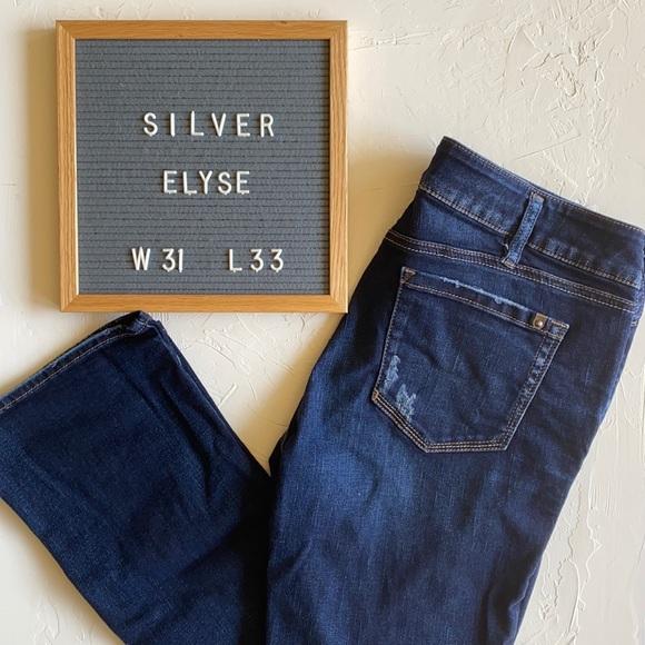 Silver Elyse Slim Bootcut Dark Wash Jeans